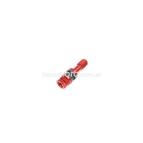 Ниппель-вентиль колеса стайлинговый прямой, красный, фото 2