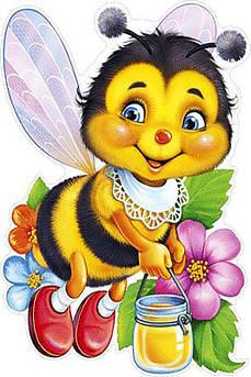 Алмазна вишивка, мозаїка Чарівний діамант Бджілка з медом КДІ-0458 20х30см 21цветов квадратні повна