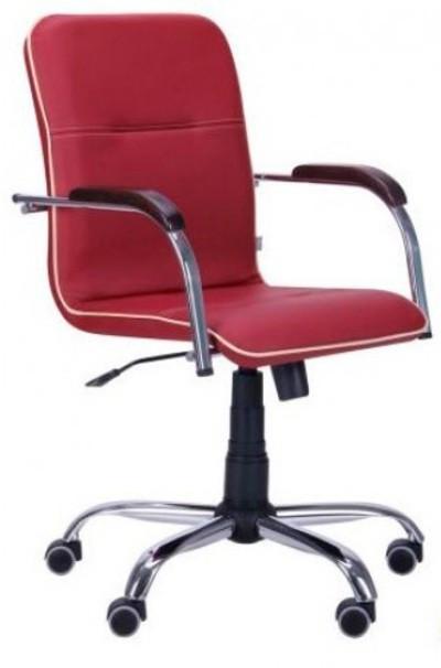 Офисное Кресло Руководителя Samba Fly 2210 Хром М2 AnyFix Красное