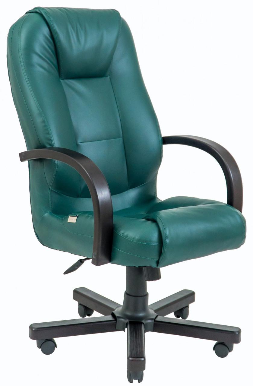 Офисное Кресло Руководителя Seville Fly 2215 Wood М2 AnyFix Зеленое