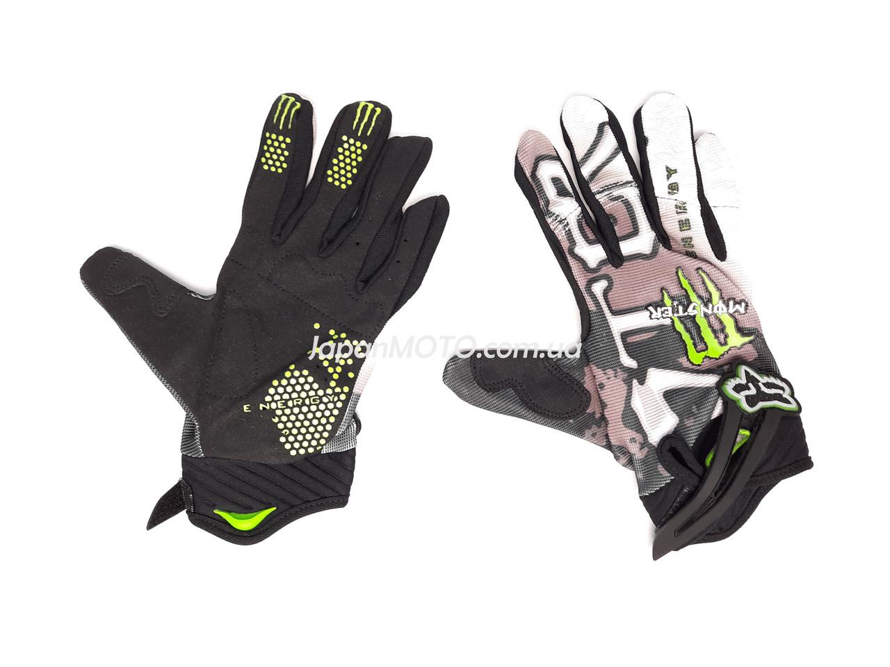 Перчатки FOX (mod:Monster, size:XL, черно-белые)