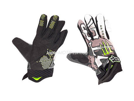 Перчатки FOX (mod:Monster, size:XL, черно-белые), фото 2