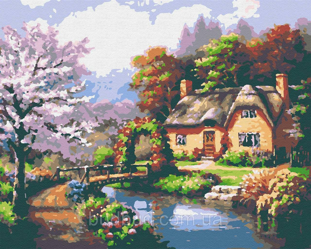 "Картини за номерами ""Хатина над річкою"" 40х50 1 шт."