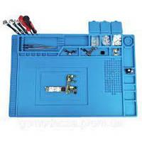 Коврик на стол силиконовый TE-501 (450мм x 300мм) для разборки и пайки телефона