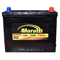Автомобильный аккумулятор MORATTI 6ct-75a3 asia
