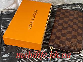 Стильний портмоне луї вітон,Unisex гаманець Louis Vuitton Коричневий Zippy/Висока Якість/Копія
