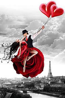 Алмазна вишивка, мозаїка Чарівний діамант Париж – місто кохання-2 КДІ-1100 60х40 см 17цв Квадратні стрази
