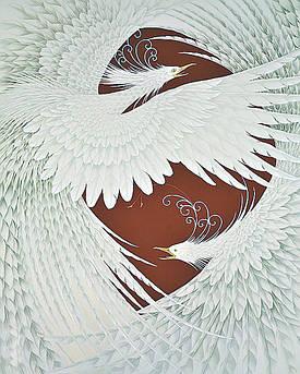 Алмазна вишивка, мозаїка Чарівний діамант Крила любові КДІ-1096 50х40 см 8цв Квадратні стрази повна зашивання