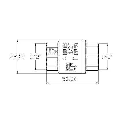"Обратный клапан SD Forte 1/2"" SF240W15 SF240W15, фото 2"