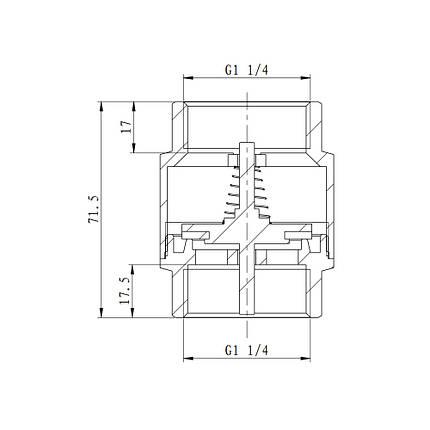 "Обратный клапан SD Forte 1"" 1/4 SF240W32, фото 2"