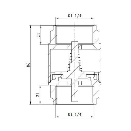 "Обратный клапан SD Forte 1"" 1/4 EURO SF247W32, фото 2"