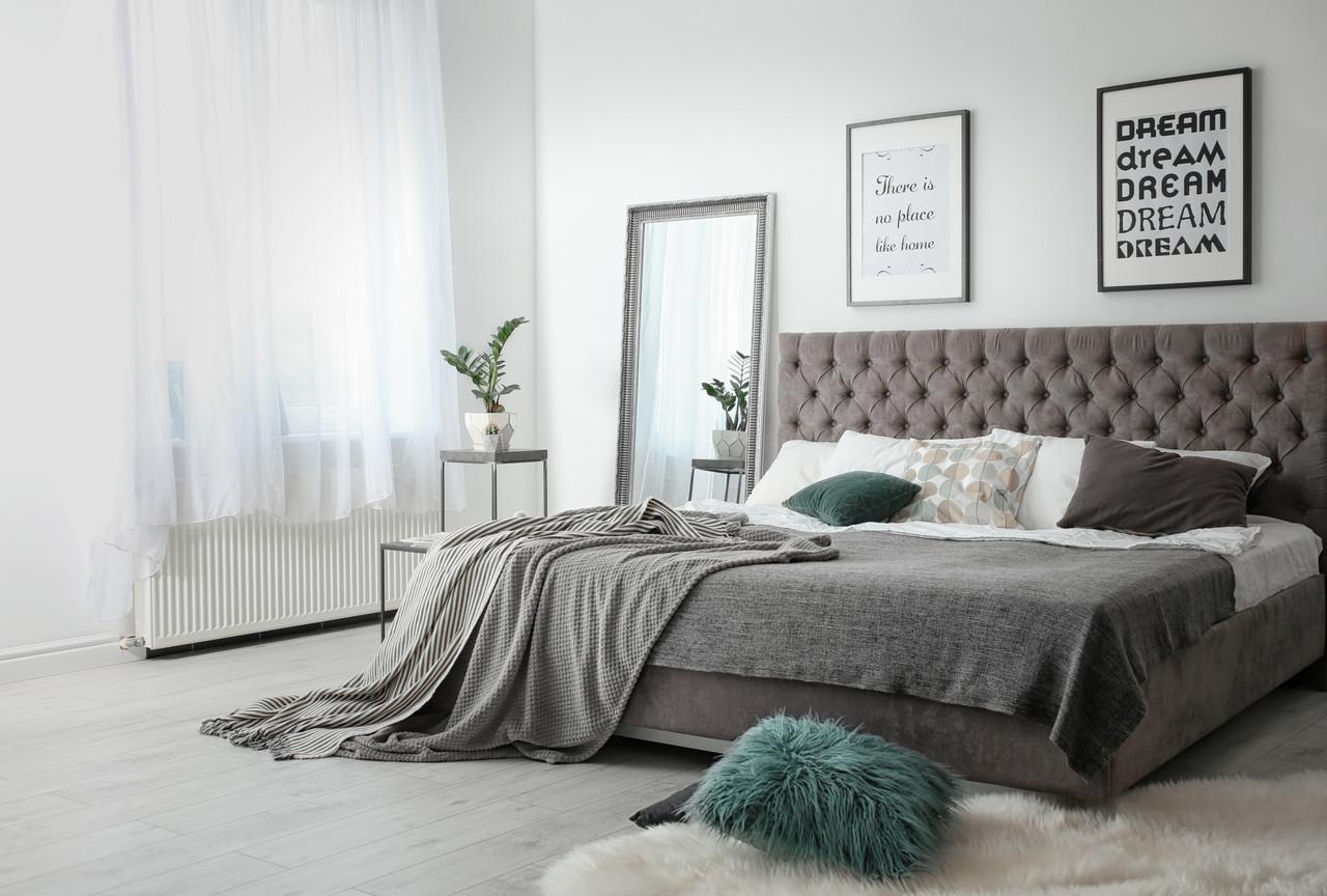 Ліжко Cambridge VIP 140 х 200 см Cacharel З додаткової металевої суцільнозварний рамою Коричнева