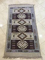 Доріжка килимова котонова двохстороння коричнева 150*80 см