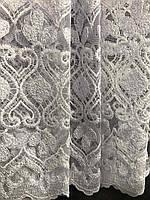 Фатиновая тюль з білою вишивкою, висота 2,8 м ( 7АRS19 ), фото 7
