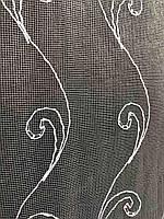 Фатиновая тюль з білою вишивкою, висота 2,8 м ( 7АRS19 ), фото 3