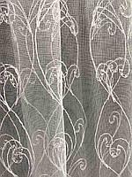 Фатиновая тюль з білою вишивкою, висота 2,8 м ( 7АRS19 ), фото 5