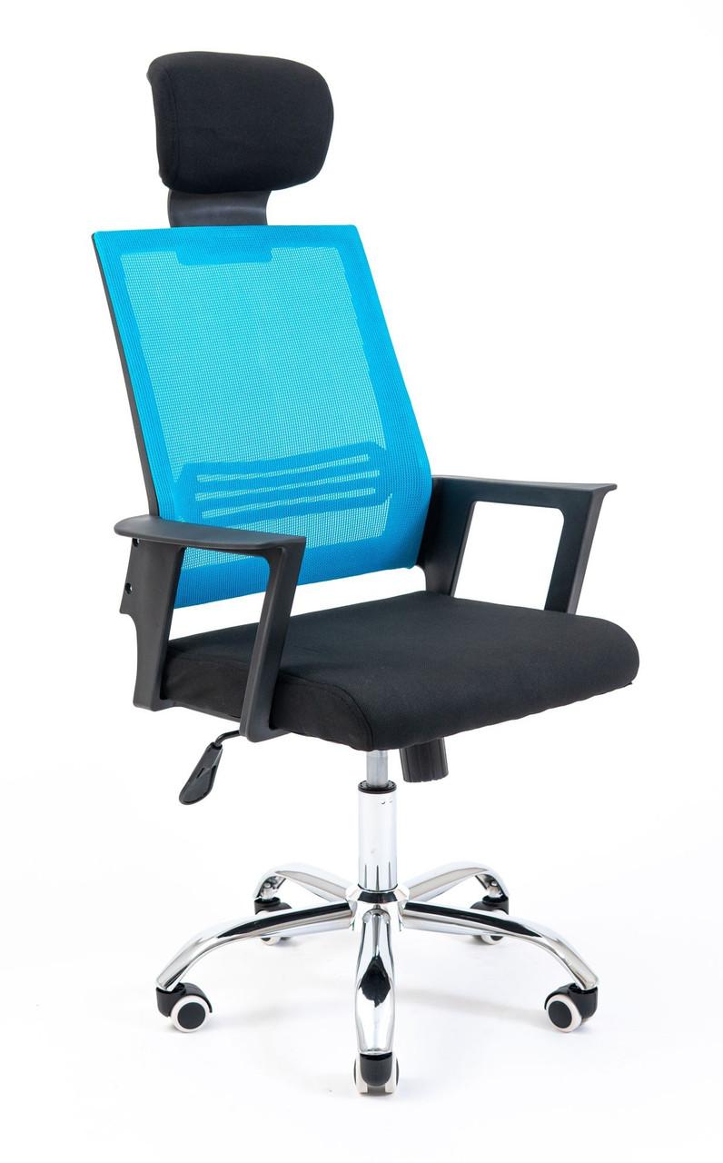 Офисное Кресло Руководителя Stick Сетка Черное + Синее