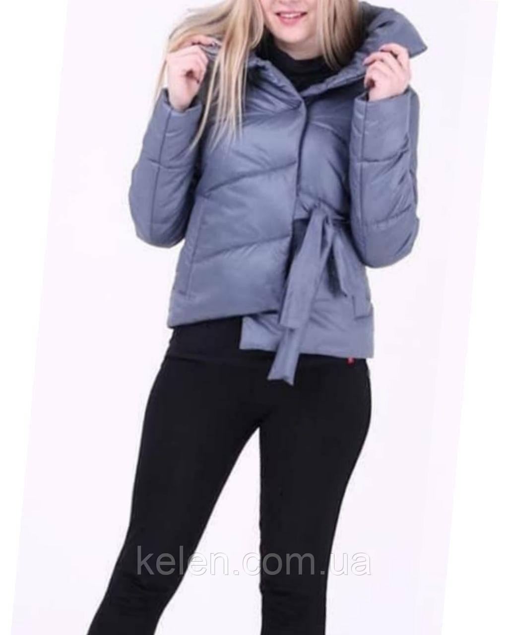 Женская куртка весна-осень цвет Джинс размер 42 (42/44)