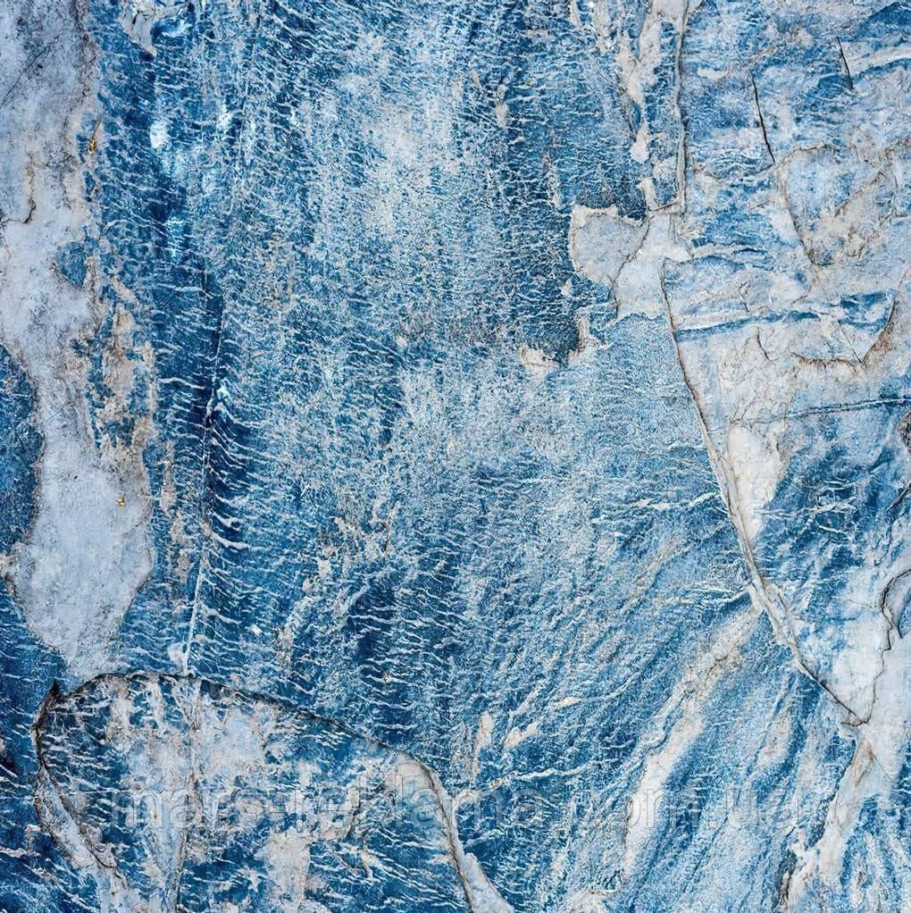 Вініловий фон (фотофон) студійний для предметної зйомки. Текстура каменю. Блакитний