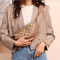 Бананка женская брендовая сумка поясная на плечо кроссбоди Gucci