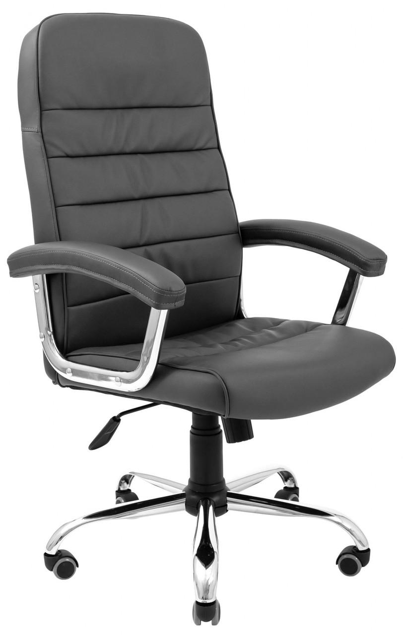 Офисное Кресло Руководителя Lion Fly 2230 Хром М2 AnyFix Черное
