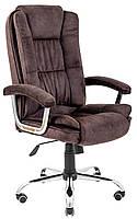 Офисное Кресло Руководителя California Morant 02 Хром М1 Tilt Коричневое