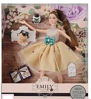 Кукла Emily в нарядном платье с аксессуарами  QJ 079 D