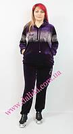 Спортивный костюм велюровый фиолетовый  Darkwin