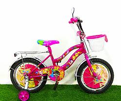 """Дитячий велосипед Winx 16"""" фіолетовий, фото 2"""