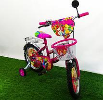 """Дитячий велосипед Winx 16"""" фіолетовий, фото 3"""