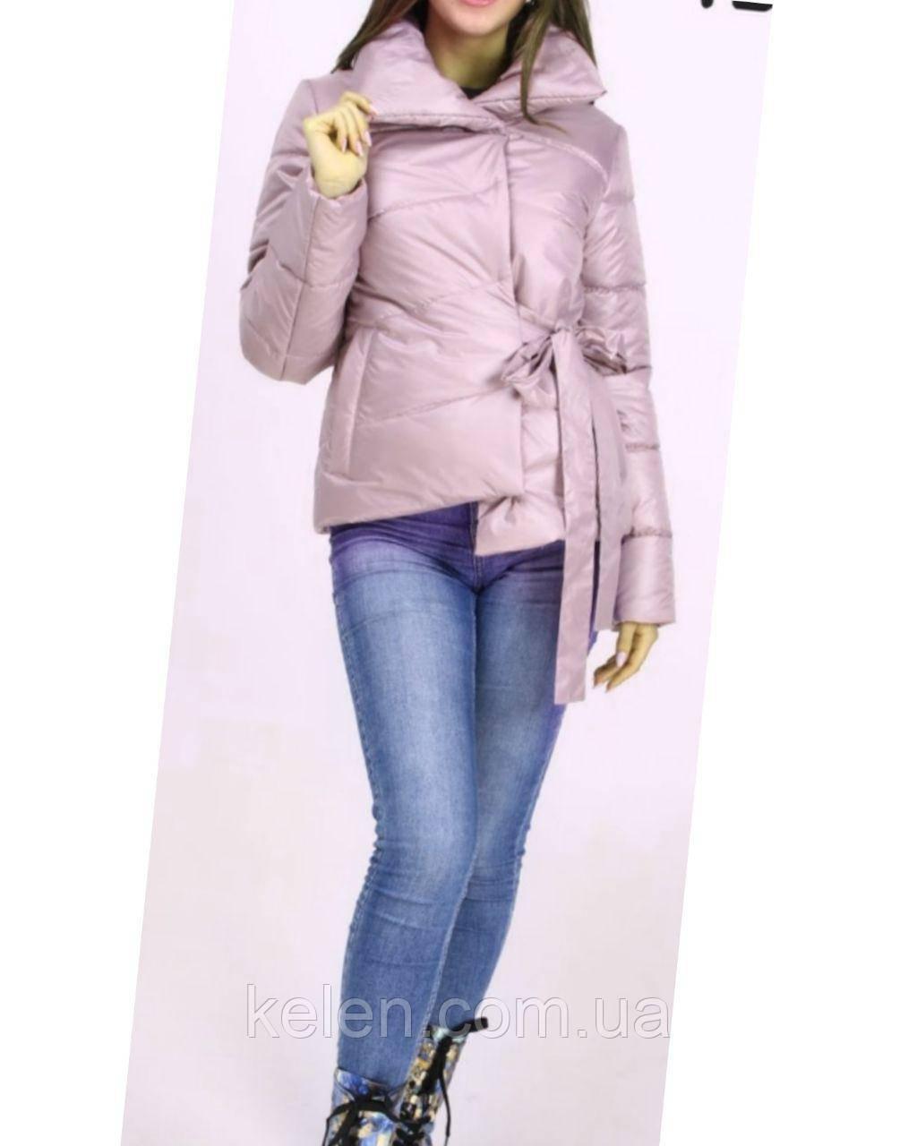 Женская стильная куртка весна-осень бежевого цвета размеры 46,48,50