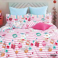 Постельный комплект подростковый 100% хлопок, комплект постельного белья Viluta, комплект белья для подростка