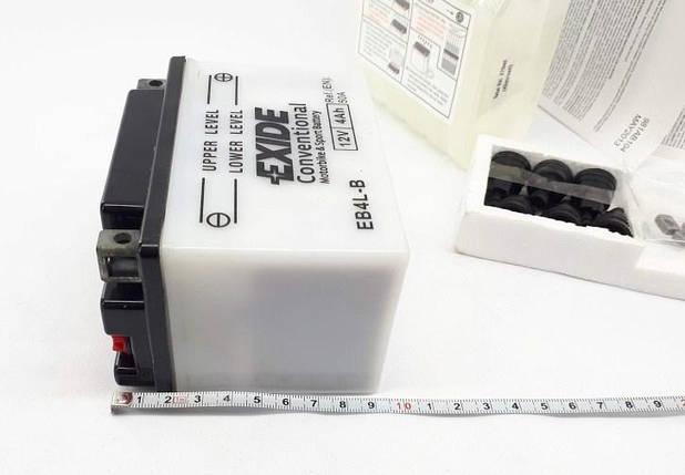 Аккумулятор для квадроцикла 110-125 куб  кислотный 4Ah EXIDE YB4L-B = EB4L-B, фото 2