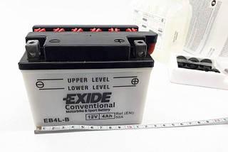 Аккумулятор для квадроцикла 110-125 куб  кислотный 4Ah EXIDE YB4L-B = EB4L-B, фото 3
