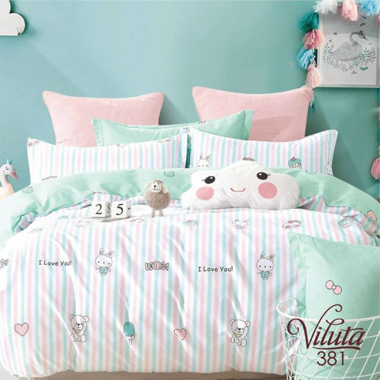 Комплект постельного белья детский Сатин Twill 381