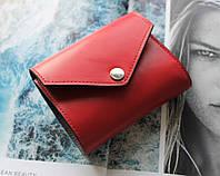 """Жіночий шкіряний гаманець """"Fragola"""" червоний, фото 1"""