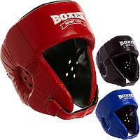 Шолом боксерський відкритий шкіряний Boxer 2027 (шолом для боксу): розмір L (3 кольори)