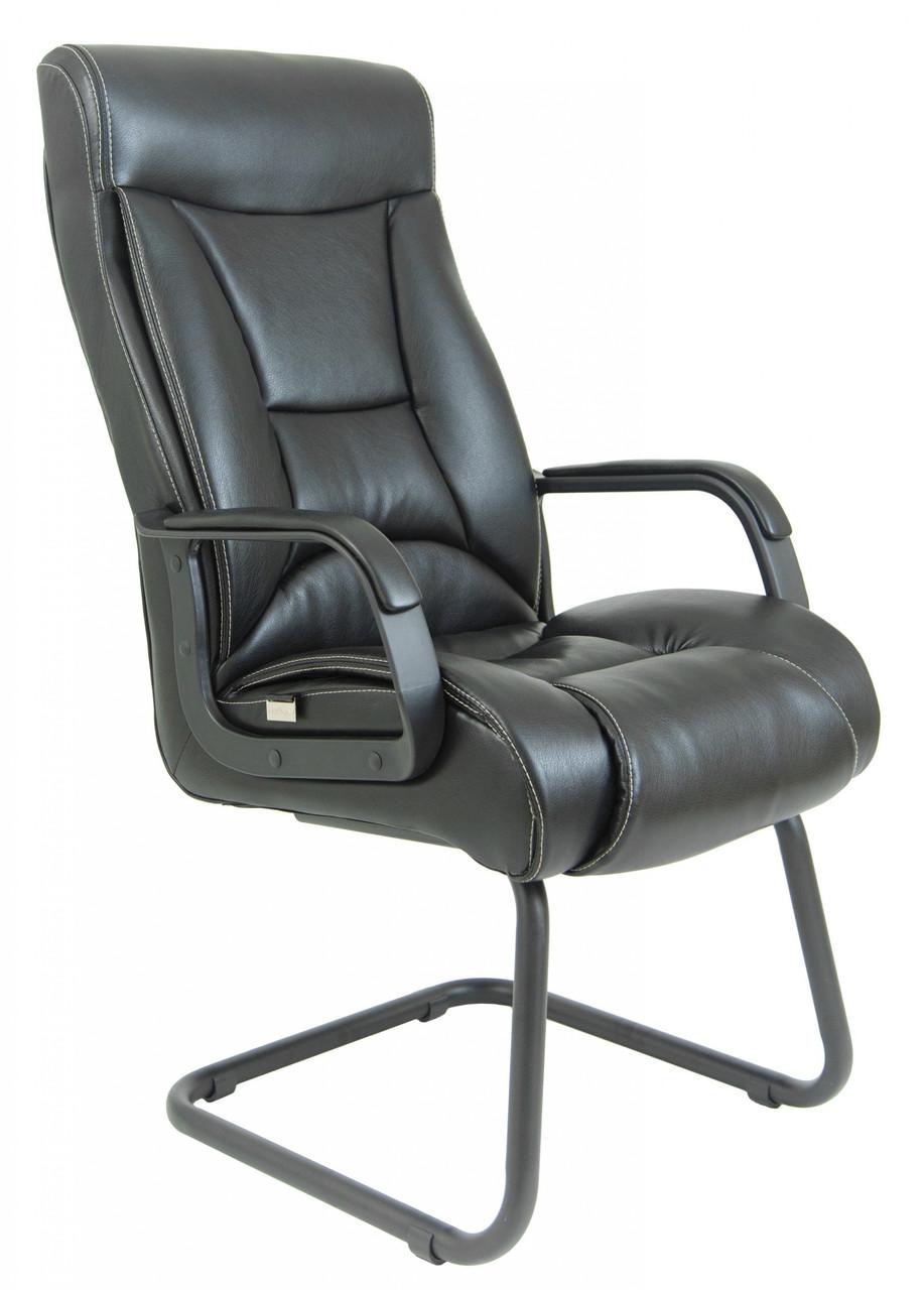 Офисное Конференционное Кресло Magistr Кожа Комбо Lux ПлаStick Rich CF Черное