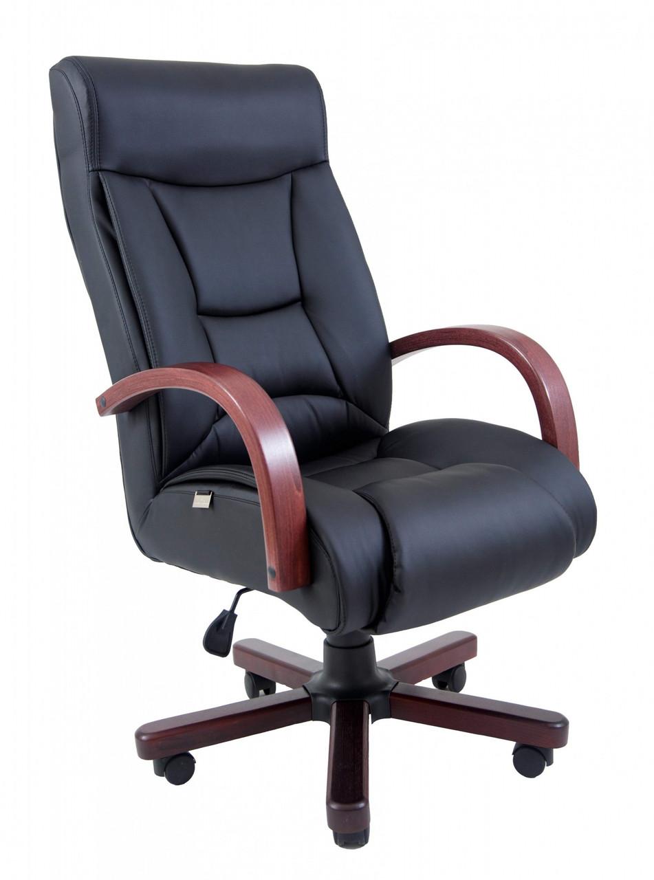 Офисное Кресло Руководителя Magistr Кожа Комбо Lux Wood М1 Tilt Черное