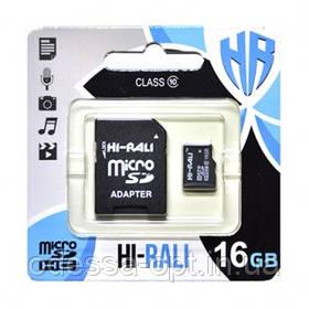 Карта пам яти microSDHC (UHS-1) 16GB class 10 Hi-Rali