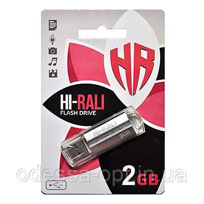 Накопичувач USB 2GB Hi-Rali Corsair серія срібло