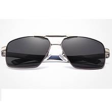 Сонцезахисні окуляри KINGSEVEN 7719 з футляром Чорний+ Срібло+ Синій