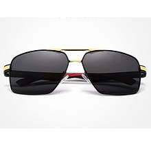 Сонцезахисні окуляри KINGSEVEN 7719 з футляром Чорний+ Золото+ Червоний