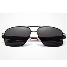 Сонцезахисні окуляри KINGSEVEN 7719 з футляром Чорний+ Срібло+ Червоний