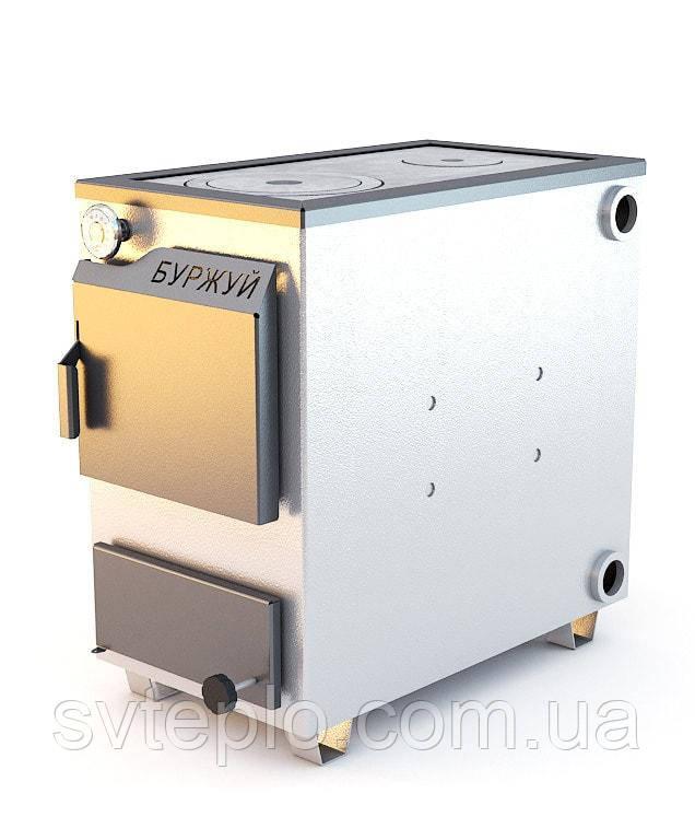 Твердотопливный котел Буржуй КП-18 кВт 4мм + бесплатная доставка