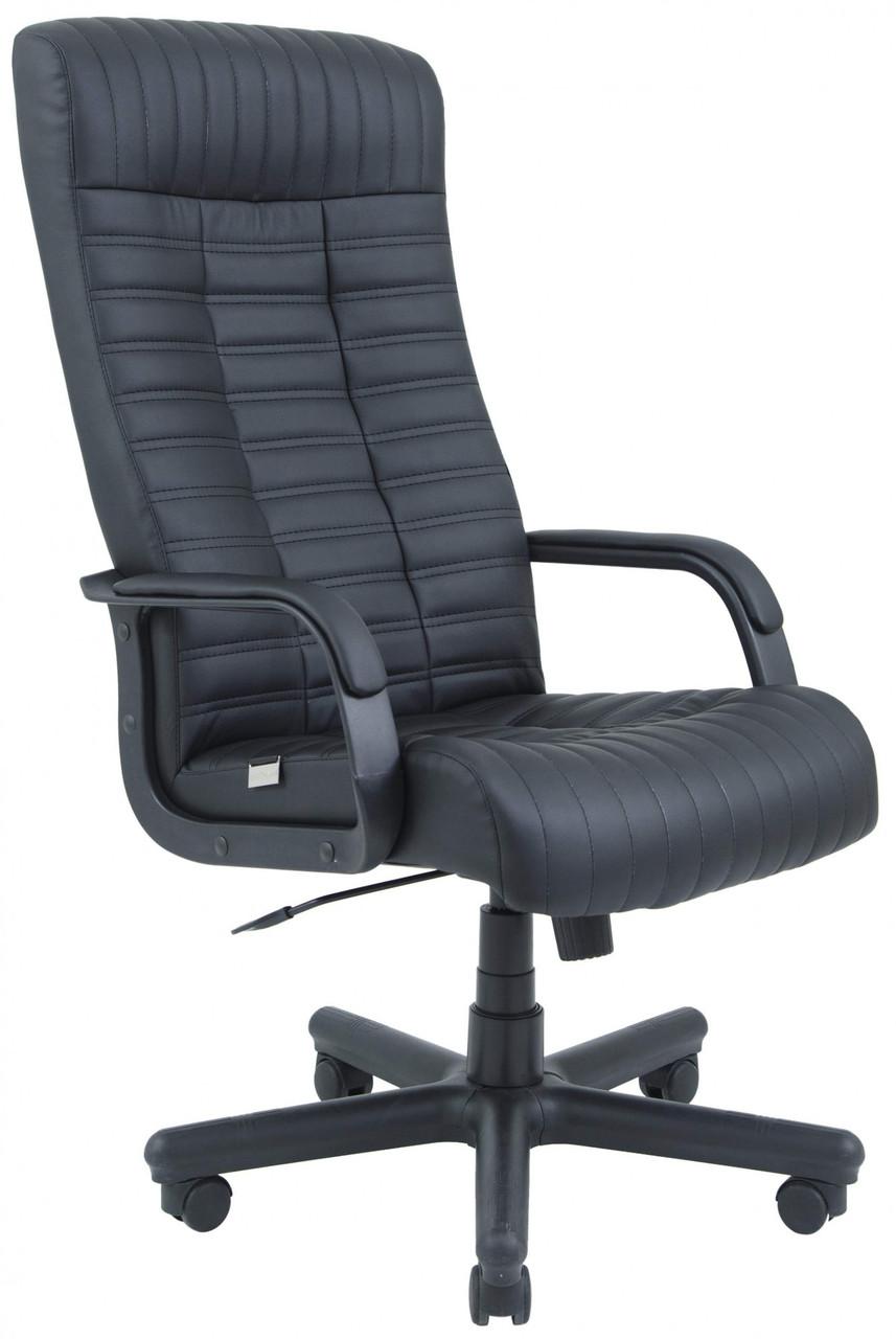Офисное Кресло Руководителя Provence Кожа Lux ПлаStick Rich М3 MultiBlock Черное