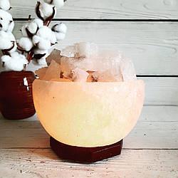 """Соляная лампа """"Чаша огня"""", 3-4 кг, (18*18*20 см)"""