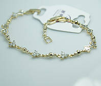 Изысканный женский браслет из позолоченных бусинок с кристаллами. Позолоченный браслет Xuping для женщин. 31
