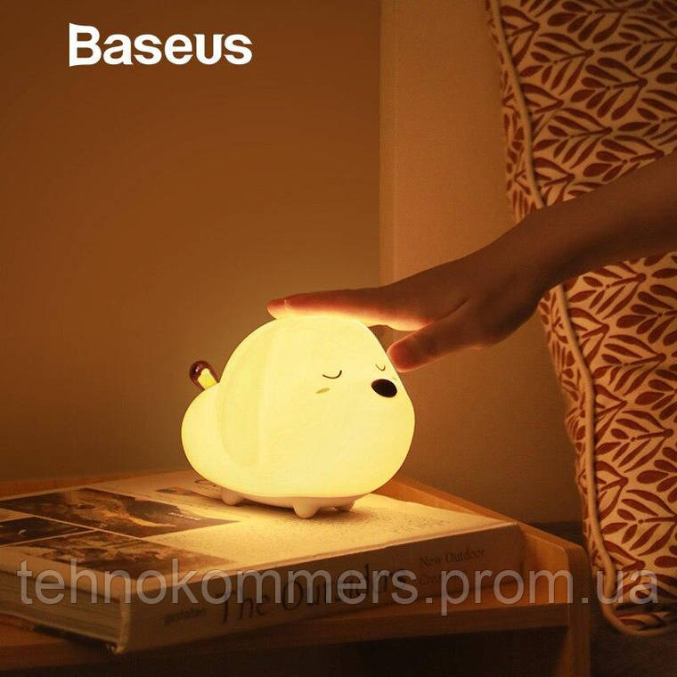 Світильник Baseus Cute series doggie silicone night light, фото 2