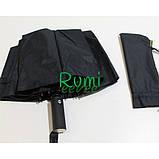 Зонт повний автомат Fiaba fia01202-12 складаний на 12 спиць Чорний, фото 2